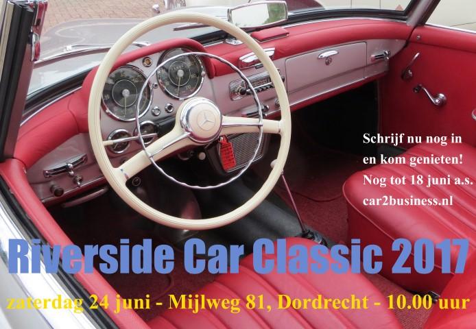 Riverside Car Classic 2017 op zaterdag 24 juni a.s.